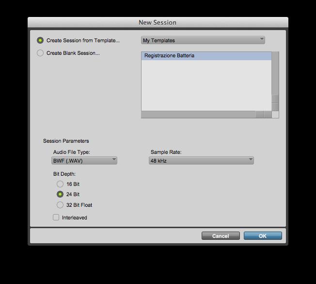 Come creare un template di una sessione su Pro Tools 11 (Guida Completa) 08