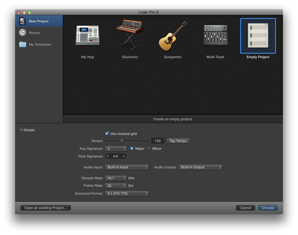 Come registrare l'audio con Logic Pro X 01