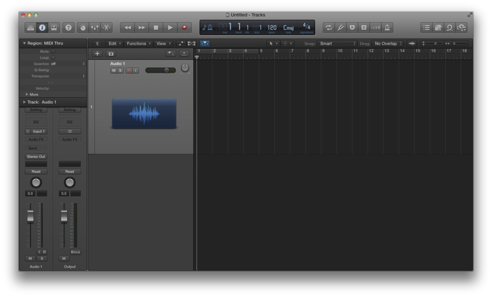 Come registrare l'audio con Logic Pro X 03