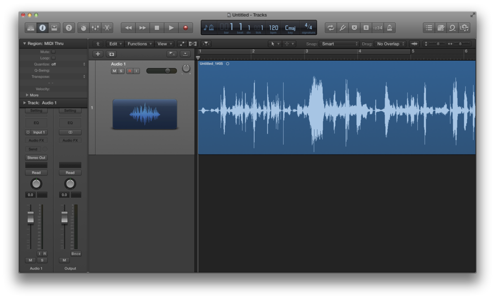 Come registrare l'audio con Logic Pro X 04