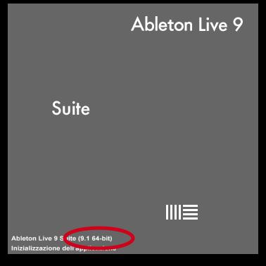 Ableton Live 9 - Schermata di Avvio