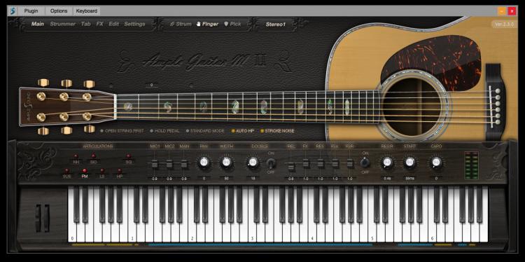 Ample Guitar M II Main Panel