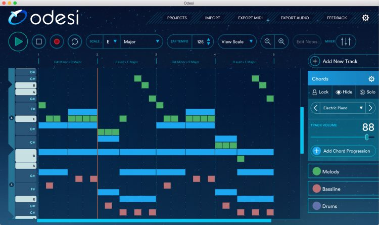 Odesi_Music_Composition_Software_Screenshot1