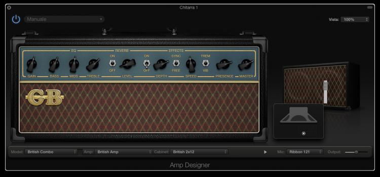 come-registrare-la-chitarra-su-garageband-amplificatore-cabinet-microfono