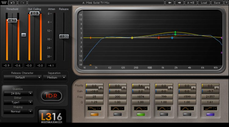 I Migliori Plugins Waves Audio per il Mastering - waves l3-16-multimaximizer