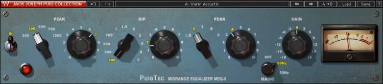 I Migliori Plugins Waves Audio per il Mastering - waves puigtec-meq-5