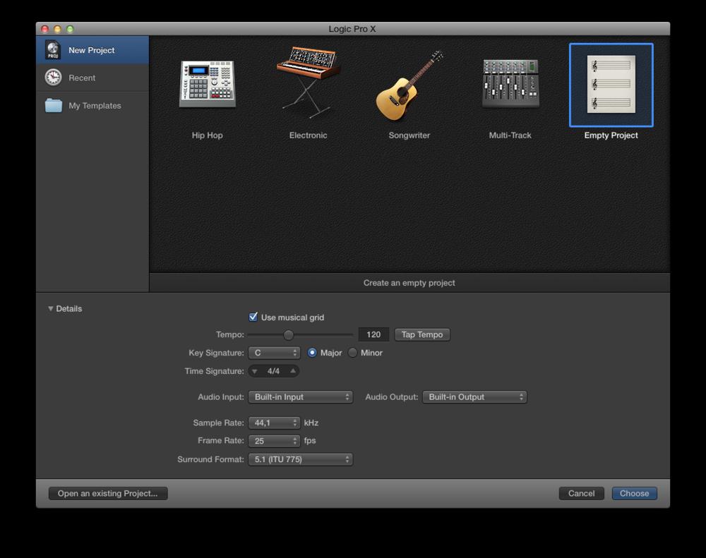 Come registrare l'audio con Logic Pro X 01