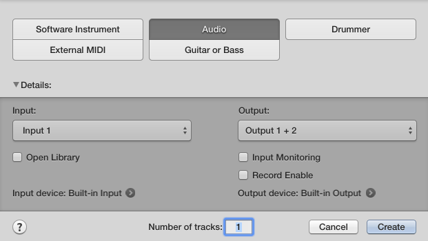 Come registrare l'audio con Logic Pro X 02