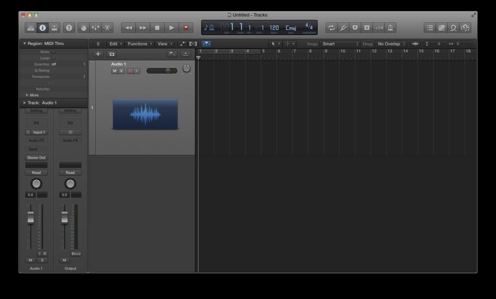 Come registrare l'audio con Logic Pro X 03