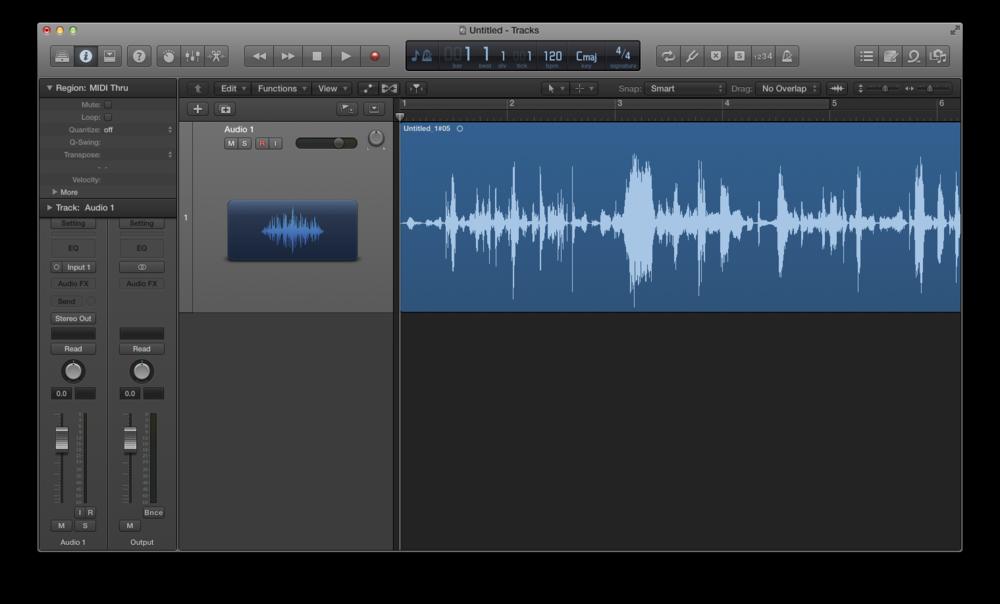 Come registrare l'audio con Logic Pro X 04