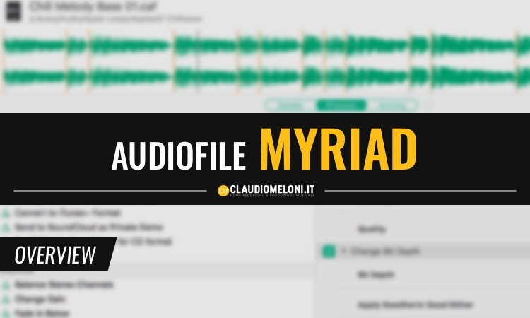 Audiofile Myriad - Audio Batch Processing