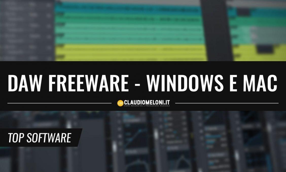 5 DAW freeware per Windows Mac