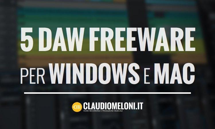 5 DAW freeware per Windows e Mac