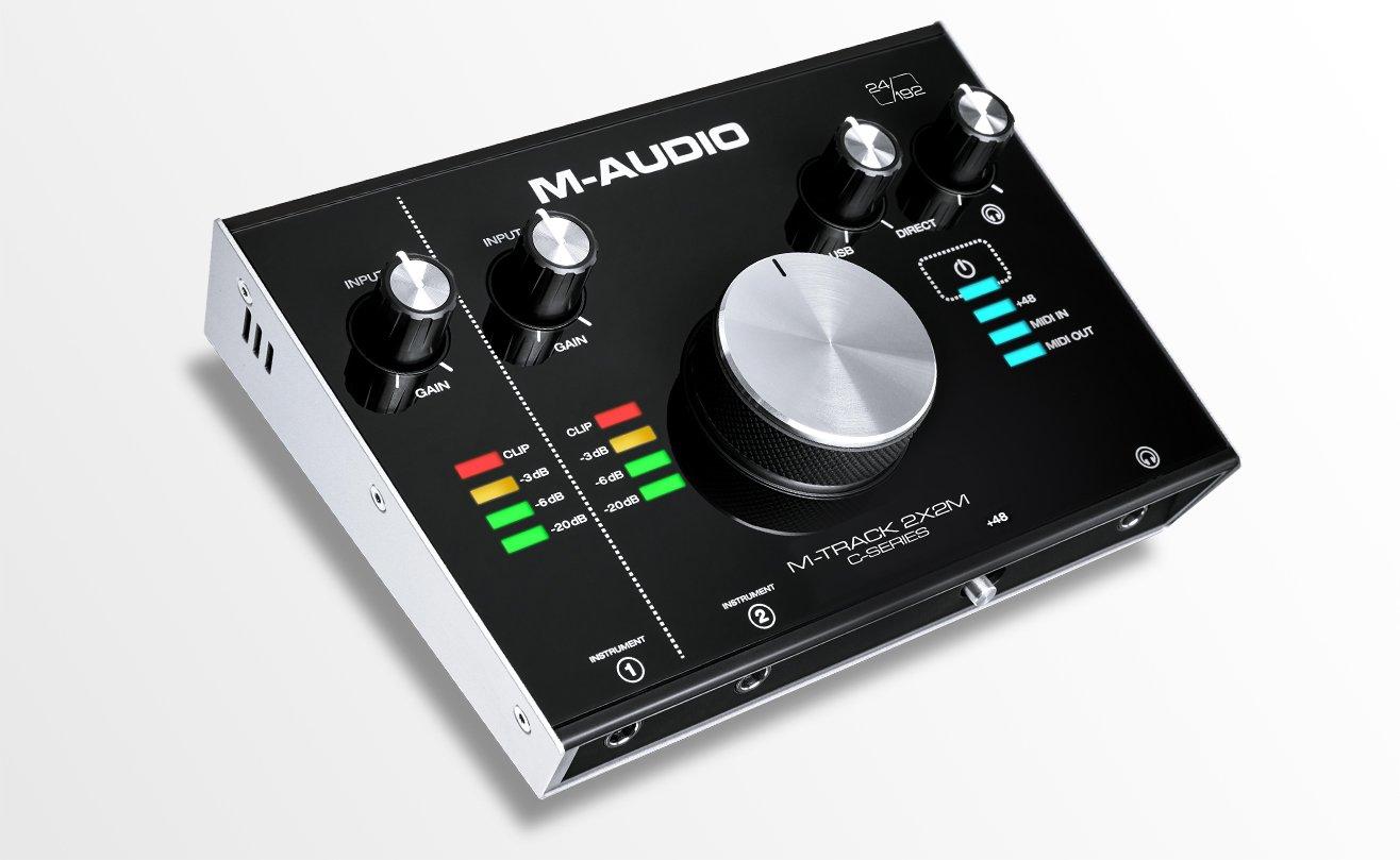 le nuove schede audio entry level di m audio m track 2x2 e 2x2m. Black Bedroom Furniture Sets. Home Design Ideas