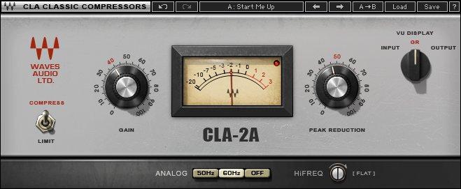 migliori-plugin-waves-mixaggio-cla-2a-compressor-limiter