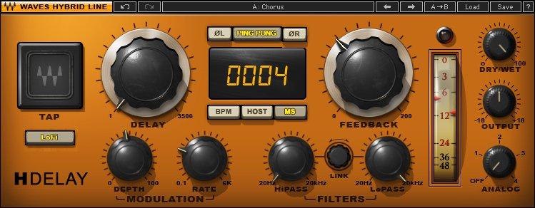 migliori-plugin-waves-mixaggio-h-delay-hybrid-delay