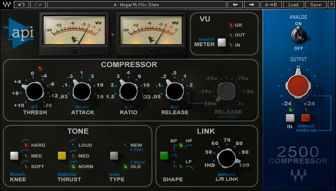 I Migliori Plugins Waves Audio per il Mastering - Waves - api-2500
