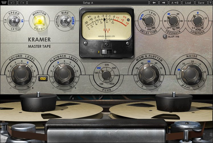I Migliori Plugins Waves Audio per il Mastering - waves kramer-master-tape