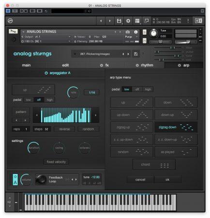 Output Analog Strings - Arpeggiatore