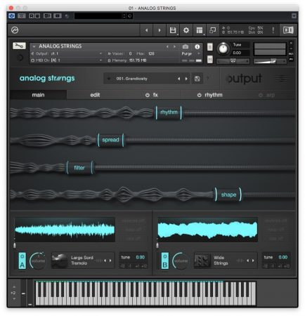 Output Analog Strings - Interfaccia