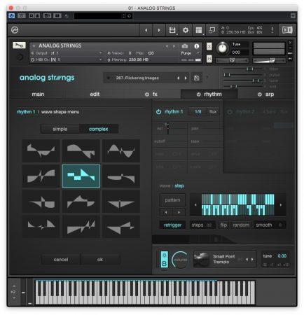 Output Analog Strings - Rhythm