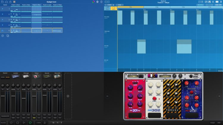 KORG Gadget for Mac - interfaccia