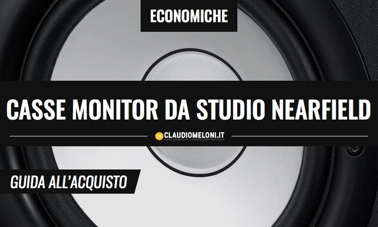 Casse monitor da studio Nearfield - economiche