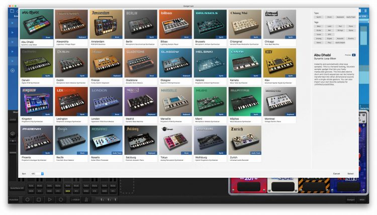 KORG Gadget for Mac - gadgets
