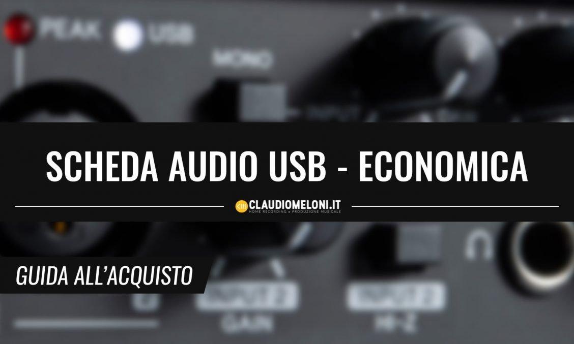Scheda Audio USB economica guida acquisto