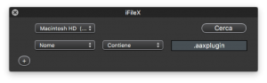 iFileX - ricerca plugin audio su mac