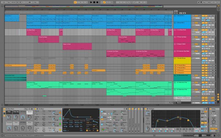 Ableton Live 10 - vista arrangiamento