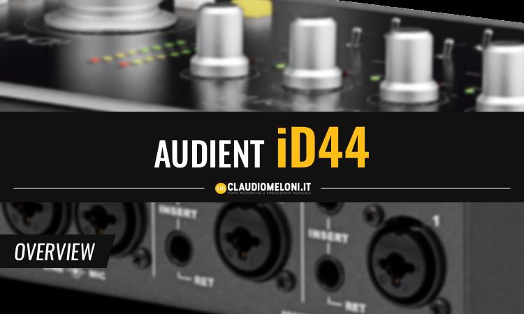 Audient iD44 - Scheda Audio USB Medio Gamma dalle Ottime Prestazioni