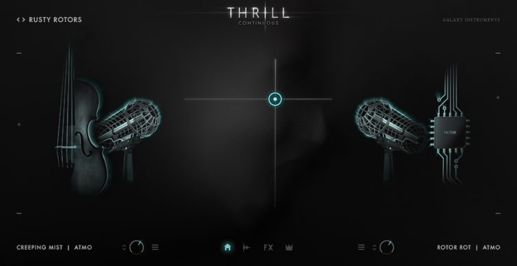 Galaxy Instruments : Native Instruments Thrill - interfaccia