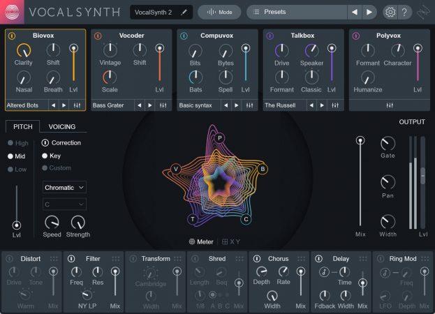 iZotope VocalSynth 2 Recensione - interfaccia