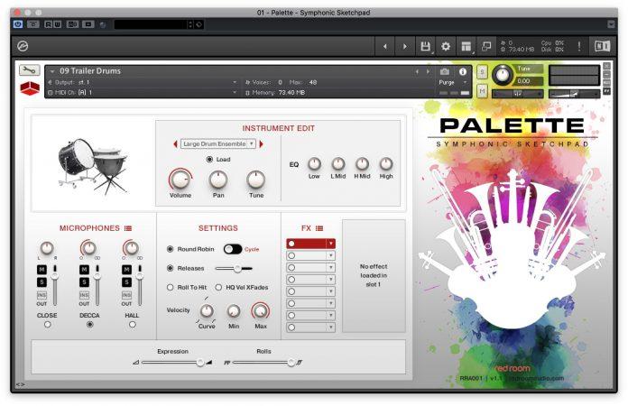 Palette Symphonic Sketchpad - precussioni