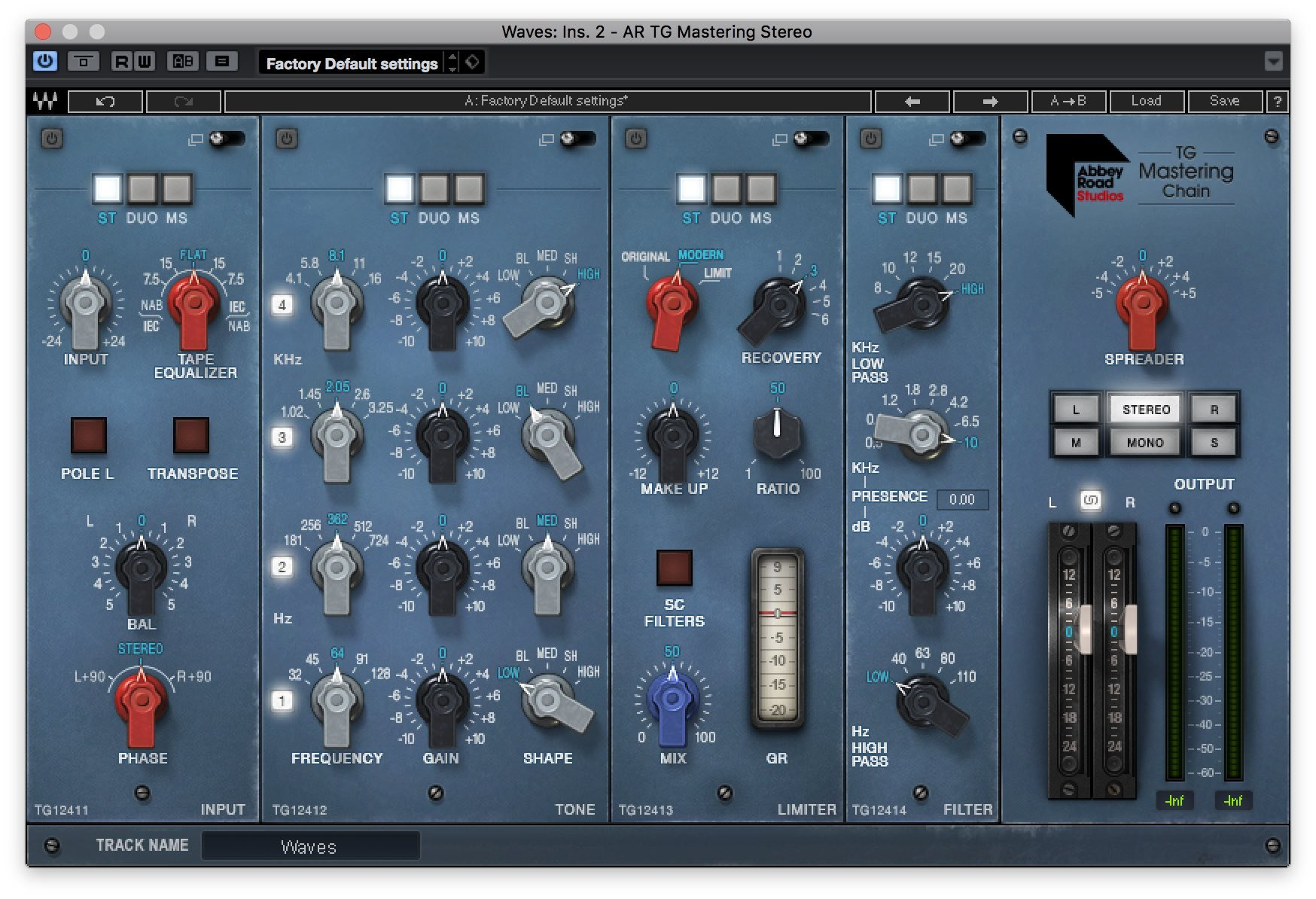 Waves - Abbey Road TG Mastering Chain