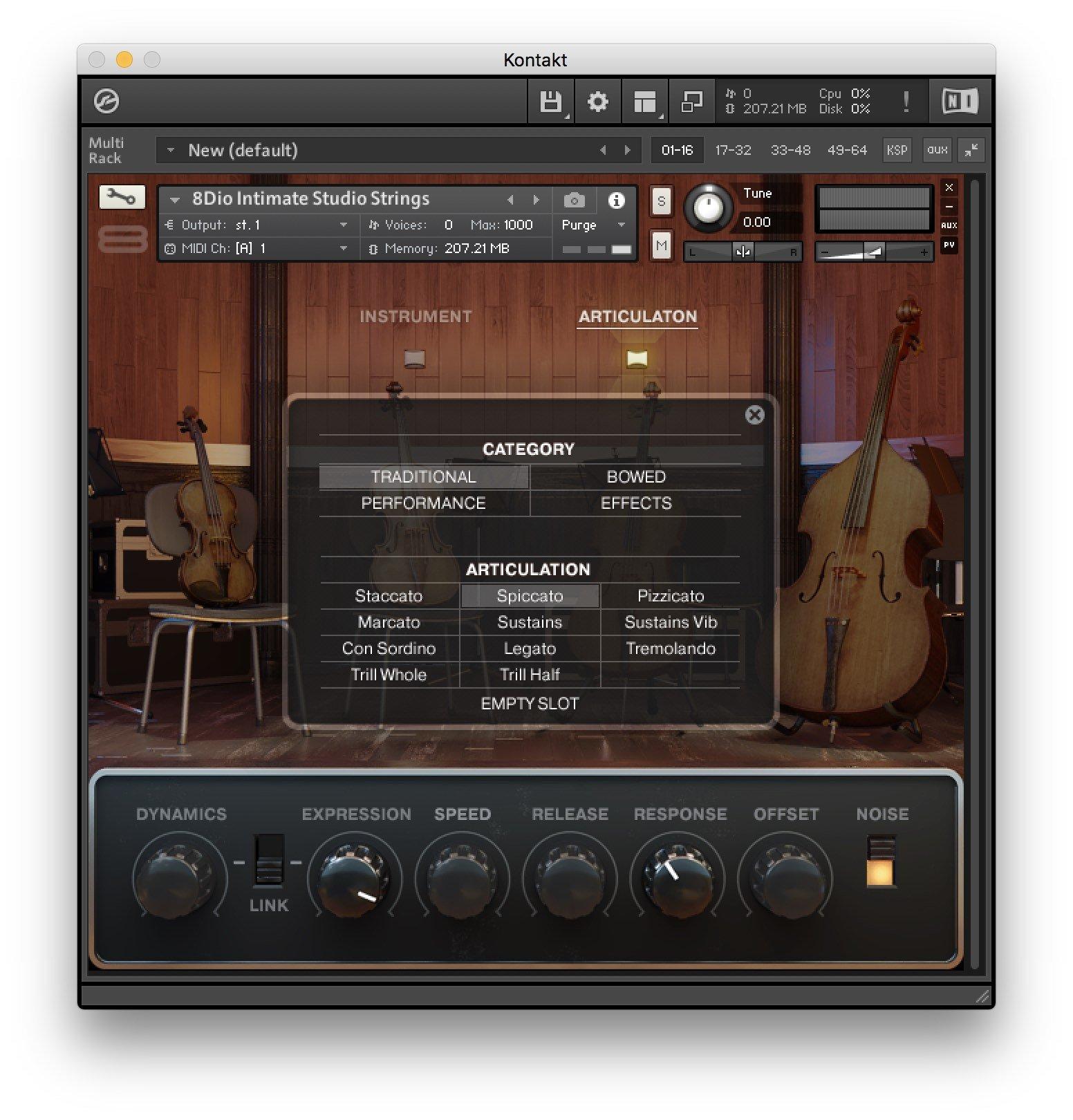 8Dio Intimate Studio Strings - Recensione - Articolazioni