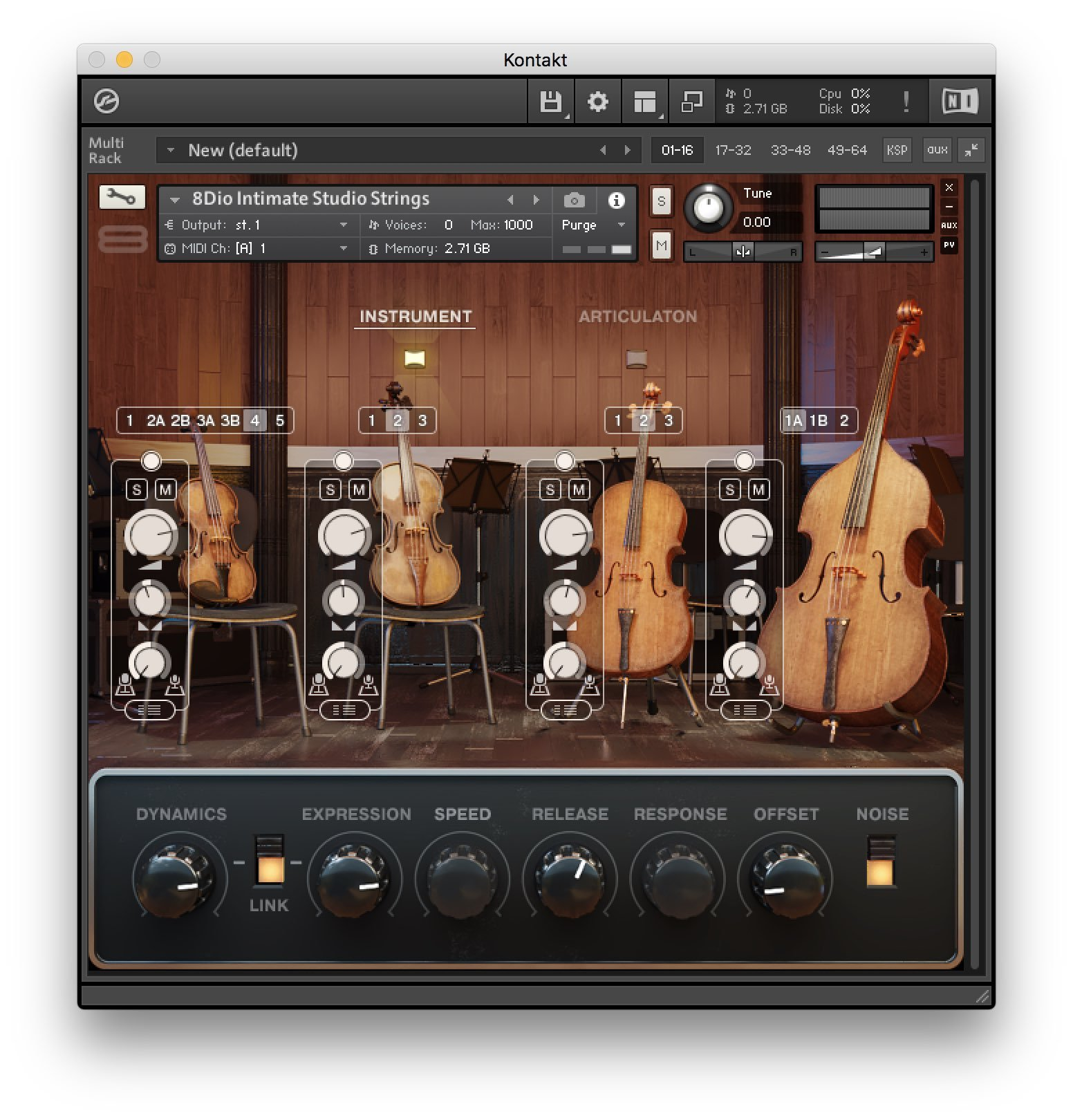 8Dio Intimate Studio Strings - Recensione - Interfaccia