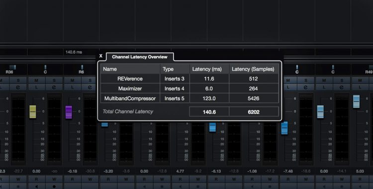 Cubase 10 - Latency Monitor