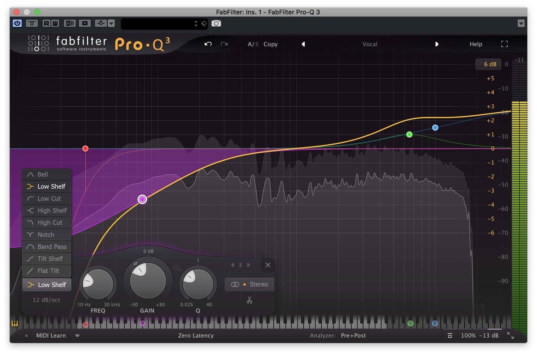 FabFilter Pro-Q 3 - Curve di equalizzazione