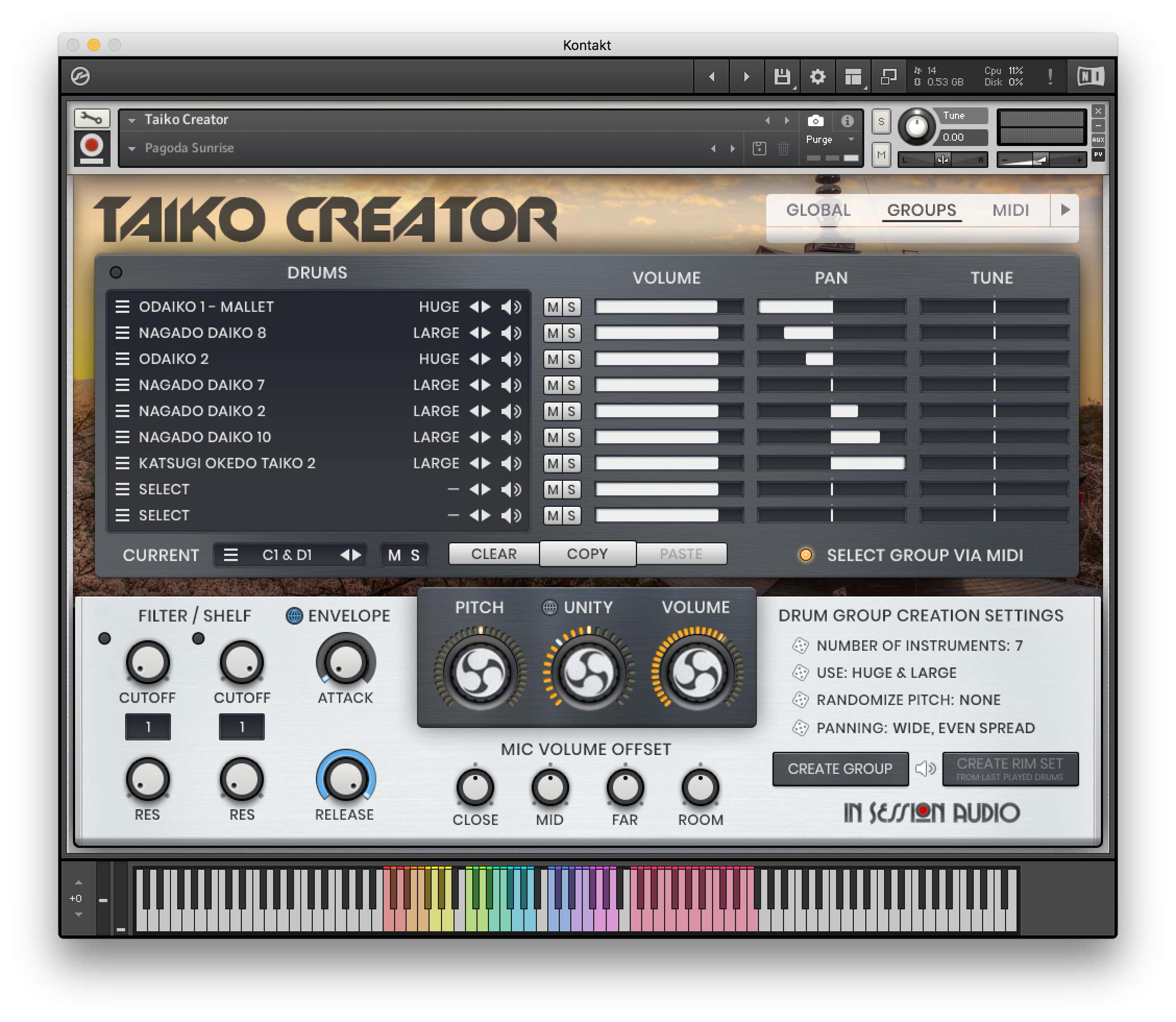 In Session Audio - Taiko Creator - Interfaccia