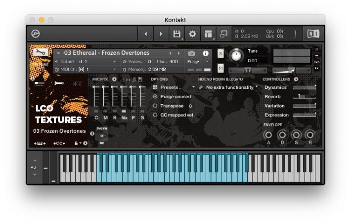 Spitfire Audio - LCO Textures - Interfaccia