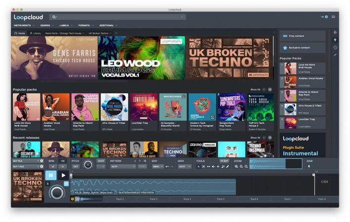 Loopcloud App Windows e macOS