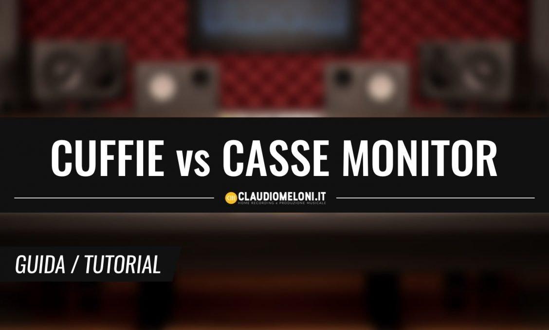 Meglio Mixare in Cuffia o su Casse Monitor
