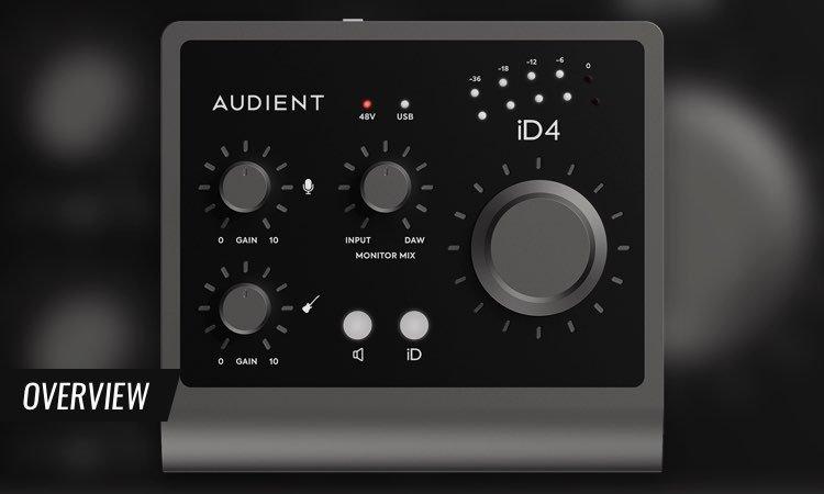 2 preamplificatori microfonici classe A Audient Audiointerface iD14 MKII Interfaccia audio USB ad alte prestazioni, connettore USB-C, funzione Monitor Mix e Monitor Panning, 2 uscite cuffie nero